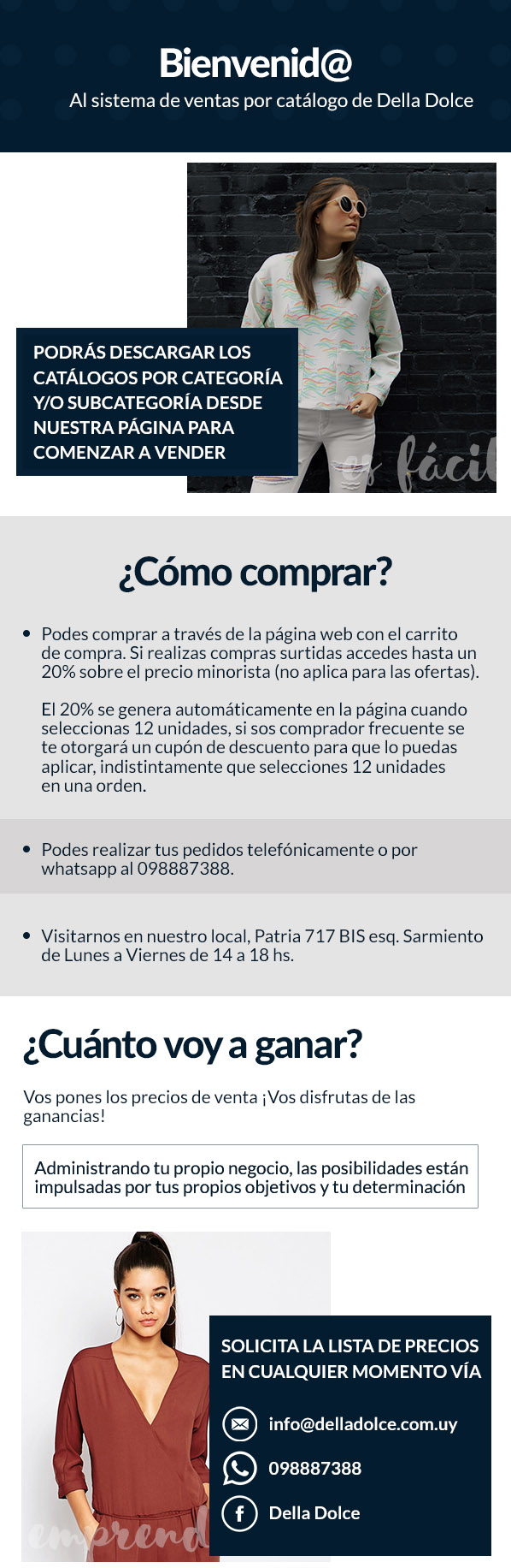 EMAIL VENTAS POR CATALOGO DELLA DOLCE 95cac938d60f