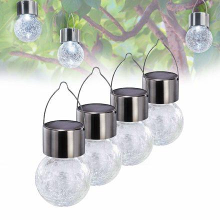 Guirnalda luces solares de jardín decorativas de cristal agrietado 3