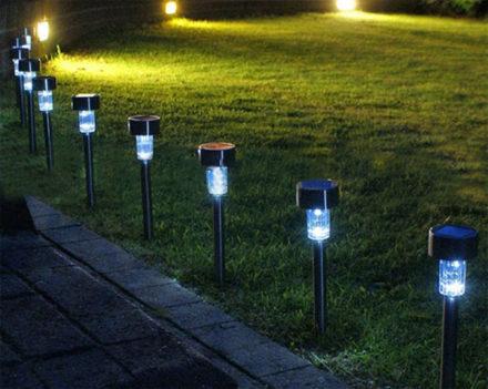 Estaca Solar Farol iluminación Led luz Lampara 3