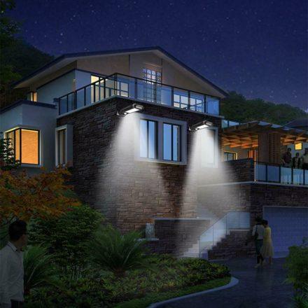 Luz solar para exteriores de 120 W LED 6