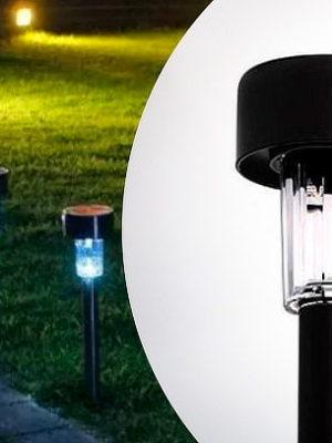 Estaca Solar Farol iluminación Led Lampara Jardin