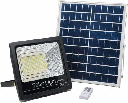 Luz Reflector Solar Led 100w Panel Autónomo Ahorro energia 3