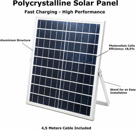 Luz Reflector Solar Led 100w Panel Autónomo Ahorro energia 7