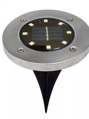 Farol Estacas Enterrable C/luz Led Panel Solar Recargab 8led