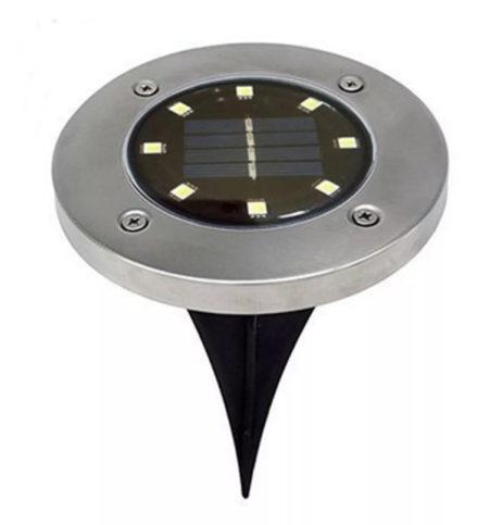 Farol Estacas Enterrable C/luz Led Panel Solar Recargab 8led 3