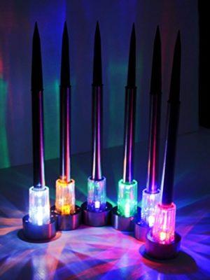 Estaca Solar Farol iluminación Led luz Lampara colores