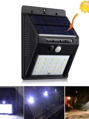Estaca Solar Farol iluminación Led luz Lampara