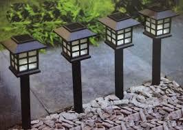 Estaca Solar Farol iluminación Pack x 6