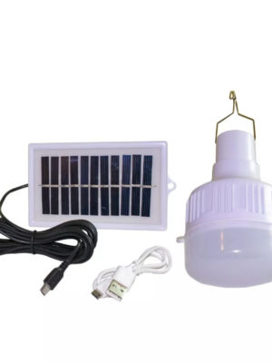 Lampara Led 40w Recargable + Panel solar Portatil Camping